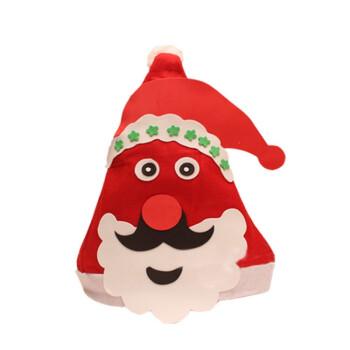 圣诞节diy手工制作圣诞帽儿童无纺布卡通头饰帽子材料
