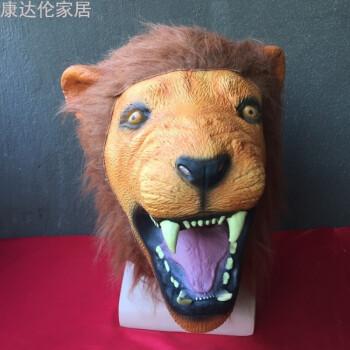 动物面具头套cos马头狐狸驴兔派对猩猩猴万圣节恐怖搞笑直播道具生活