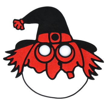 万圣节女巫手工面具