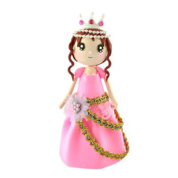 天使彩虹 diy创意彩泥橡皮泥制作公主超轻粘土材料包手工制作玩具塑