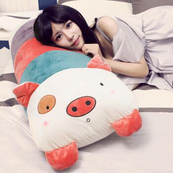 小猪睡觉抱枕靠枕床头靠垫大靠背公主情侣双人枕头床上大号可拆洗