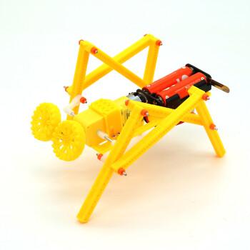 儿童手工科技小制作小发明四足爬行机器人电动拼装模型 材料包(含螺丝