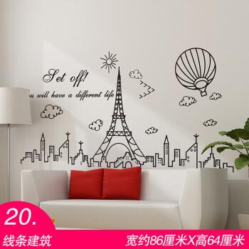 2018 新品墙纸宿舍大学生海报创意墙贴纸中国地图卧室