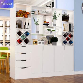 客厅家具 屏风 yandex yandex2018新款客厅隔断柜酒柜双面间厅柜现代