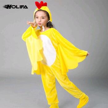 火立方2018新款儿童小鸡也疯狂舞蹈演出服动物小鸡演出服表演卡通服