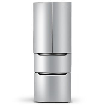 奥马(Homa)BCD-285K 285升 一级能效 电脑控温 法式多门冰箱(浅密拉丝银)