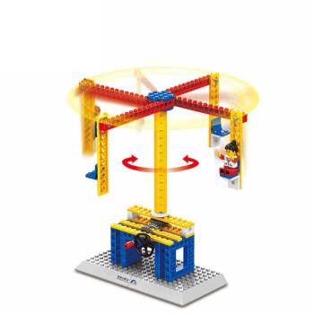 乐高积木拼装玩具最好小朋友旋转36周岁1301工程机械变形木马颗粒童年时玩具的塑料图片