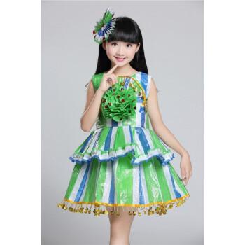 走秀环保表演服塑料袋手工diy子装环保幼儿园时装秀公主裙 绿色 绿色