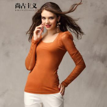 尚古主义2014秋冬新款女装上衣欧美甜美瑞丽打底衫修身显瘦长袖女T图片