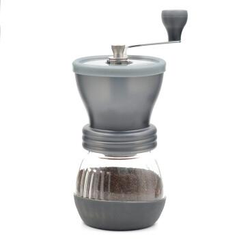 HARIO 日本原装进口陶瓷磨芯可调节防跳豆带玻璃存储罐手摇咖啡磨豆机 MSCS-2TB