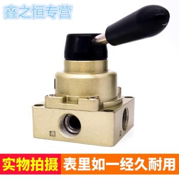 手板换向阀气控气阀hv-02 03 04 hv-02 配齐外径6mm气管接头 消声器图片