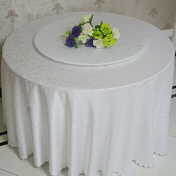 酒店圆桌转盘套 转盘桌布台布 玻璃转盘/转盘套子勾花