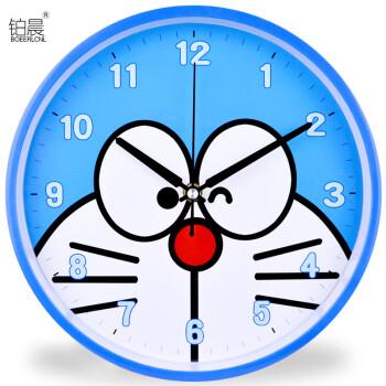 卡通钟表个性创意时钟客厅卧室圆形静音挂钟简约时尚康巴丝石英钟sn