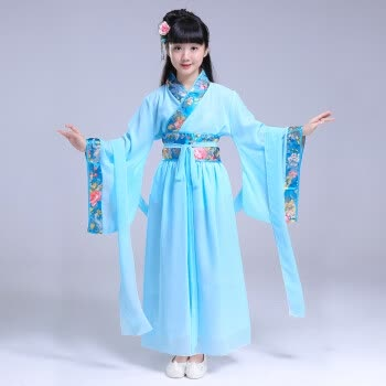女童汉服中国风夏装 儿童小女孩公主仙女服 学生大童小姐古代衣服