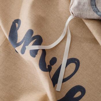 北极绒 纯棉四件套全棉套件床上用品 双人床单被套200*230cm 蓝森物语 1.5/1.8米床