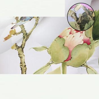 现代简约北欧壁纸小清新树叶手绘花藤电视背景墙墙纸卧室客厅壁画 晶