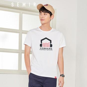 森马(semir) 短袖t恤男 2018夏季新款男士纯棉圆领半袖体恤学生潮流男图片
