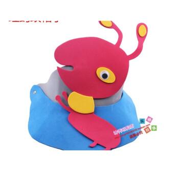 20g节幼儿园表演eva帽子遮阳帽子活动卡通动物头饰小鸟星星 红蚂蚁