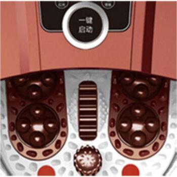 宋金SJ-8802足浴盆豪华电动按摩足浴器自动加热按摩深桶泡脚盆高桶 深咖啡色