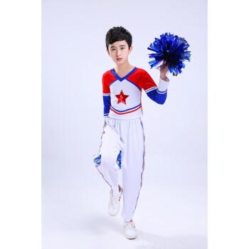 古莱登儿童中学生舞蹈演出服拉拉队服装运动会啦啦队服装时尚 男款图片