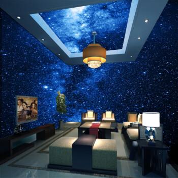 ktv酒吧网吧宇宙星空主题包厢天花板吊顶背景墙壁纸客厅墙纸壁画 无缝图片
