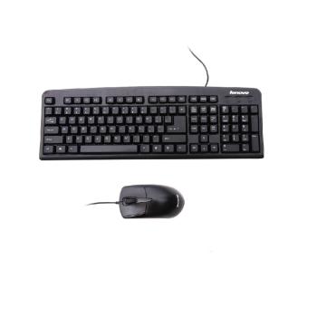 Lenovo/联想键盘鼠标KM4800 台式机笔记本USB有线键鼠套装正品 黑色