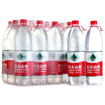 农夫山泉 天然饮用水1.5L*12瓶 整箱