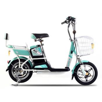 新日电动车自行车 新款清爽 单双人电动自行车车 男女式迷你 电瓶车 图片