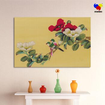 墙上贴的画-装饰画 工笔画 沙发背景 墙贴