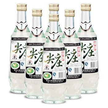 尖庄 五粮液尖庄曲酒52度整箱500ml 6瓶