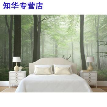 zh 壁纸自粘田园3d立体风景山水墙贴大自然客厅仿真背景墙面装饰品画