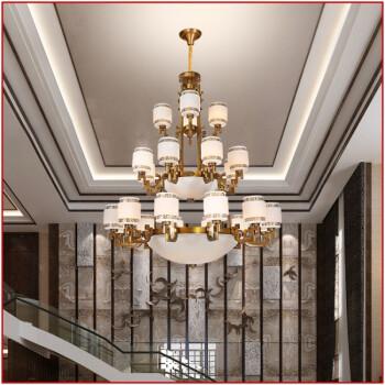 全铜吊灯新中式复式楼客厅大吊灯别墅楼中楼现代大气三四层大吊灯 6 3