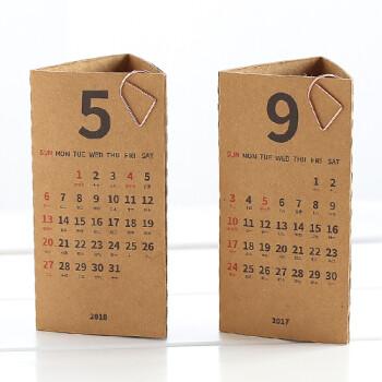 简约创意2018年立体三角台历 折叠台历日程计划备忘录