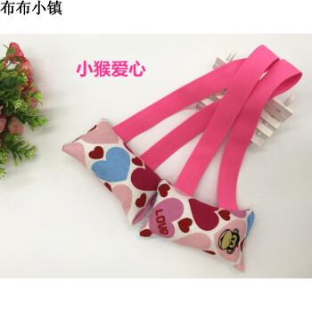 拉力器儿童自制幼儿园手工宝宝学生玩具卡通帆布松紧带拉力器 粉红