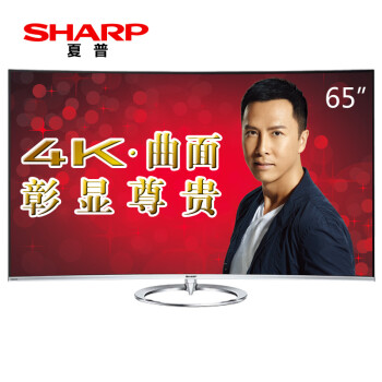 夏普(SHARP)LCD-65UR30A 65英寸4K超高清液晶电视 安卓智能曲面屏(黑色)