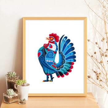 diy数字油画创意礼物卡通动漫动物手工绘油彩填色装饰