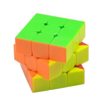 榉木三国华容道中国数字华容道解锁大号九连环儿童玩具 实色三阶魔方