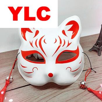 万圣节舞会面罩动漫手绘.面具 日式和风狐狸半脸面具