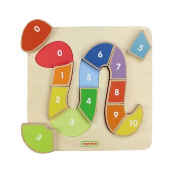 炎黄 小蛇形数字顺序学习板幼儿园木制桌面数学类小型拼板