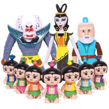 葫芦娃玩具套装全套金刚公仔可变形卡通爆兽蛋玩偶葫芦兄弟爷爷桌