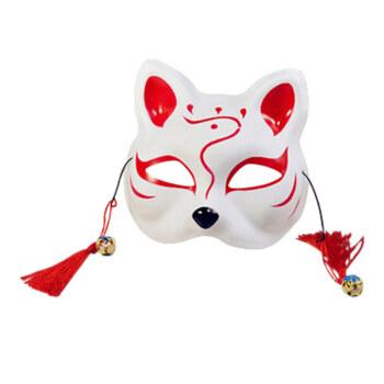 卡哆哆卡哆哆猫面具手绘 抖音同款 半脸猫面具日式和风狐狸 动漫男女