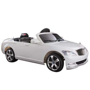 快乐年华奔驰儿童电动车 四轮可坐可遥控童车 电动车遥控汽车 2.4G珍