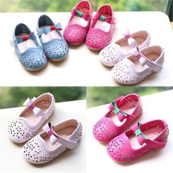 女款婴儿凉鞋0 1岁 软底女童凉鞋学步 桃色 23码 内长14cm