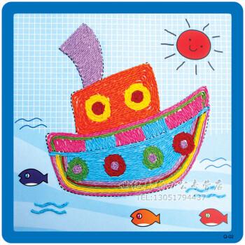 纸绳画儿童手工制作材料幼儿园diy粘贴画绳子艺术玩具幼儿园diy手工材图片