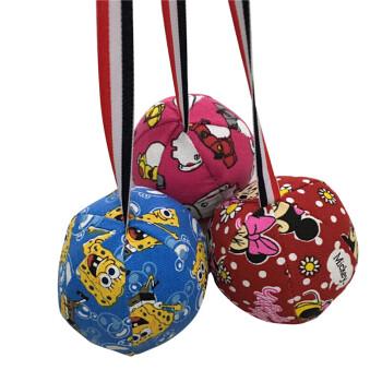 幼儿园帆布流星球沙包玩具 布艺手工制作流星锤 大号红色米妮(直径约