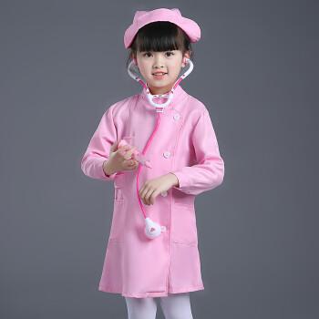 六一儿童小医生护士服幼儿园职业表演出服装过家家角色扮演白大褂 a款