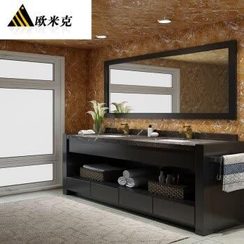 厨房卫浴 浴室柜 欧米克 现代落地大理石美式浴室柜环保橡木卫浴柜图片