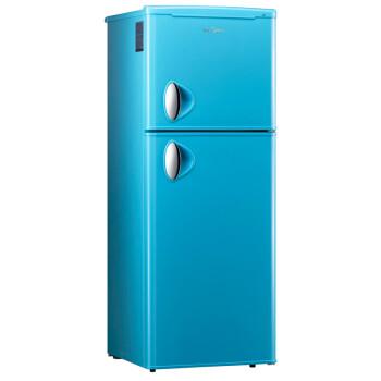 美的(Midea) BCD-132CM(E) 132升 双门冰箱 节能静音 天际蓝