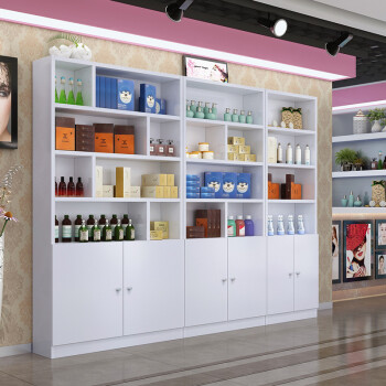展示柜化妆品陈列柜理发店柜子美容院陈列架子超市展柜货架展示架图片