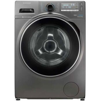 三星(SAMSUNG)WD80J7260GX/SC 8公斤超薄洗烘一体 泡泡净洗涤 智能变频 大容量滚筒洗衣机 (钛晶灰)